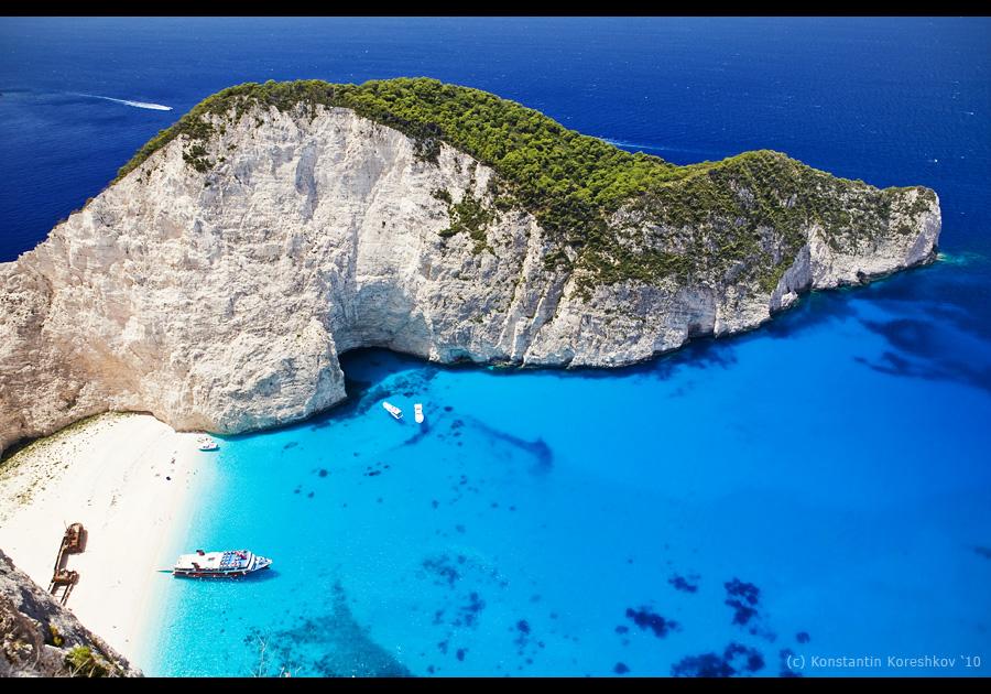 Греция остров закинф бухта навайо